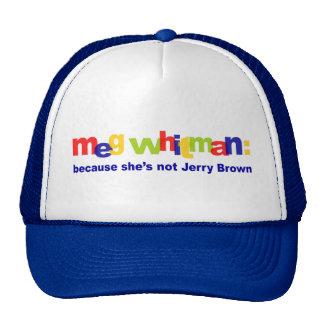 Meg Whitman - She's Not Jerry Brown Trucker Hat