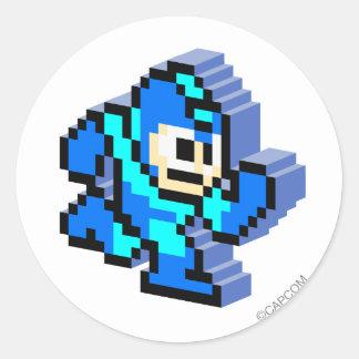 Mega 3D Classic Round Sticker