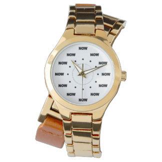 """Mega """"AHORA"""" refresque (el fondo blanco) #9 Relojes De Mano"""