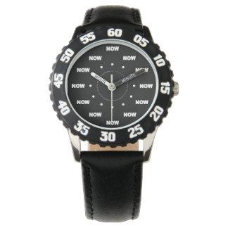 "Mega ""AHORA"" refresque (fondo negro) #10 Relojes De Pulsera"