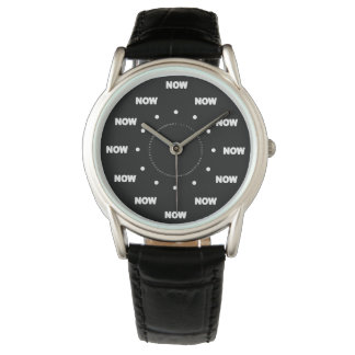"Mega ""AHORA"" refresque (fondo negro) #6 Reloj"