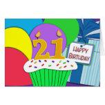 Mega Happy 21st Birthday Card