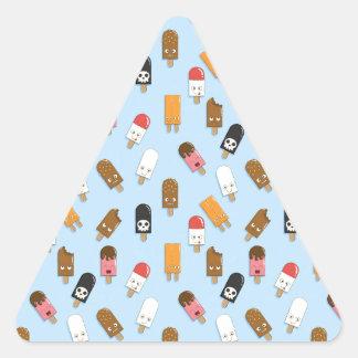Mega Ice Cream Pattern Triangle Sticker