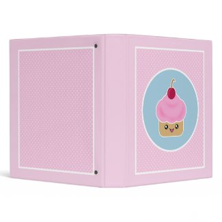 Mega Kawaii Cupcake Cherry Binder binder