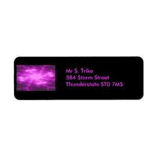 Mega Lightning Fractal Custom Address Label