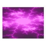 Mega Lightning Fractal Postcard