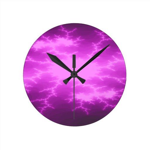 Mega Lightning Fractal Wall Clock