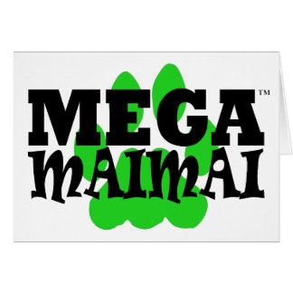Mega Maimai Paw Print Green Card