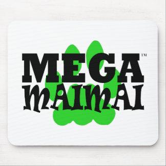 Mega Maimai Paw Print Green Mousepad