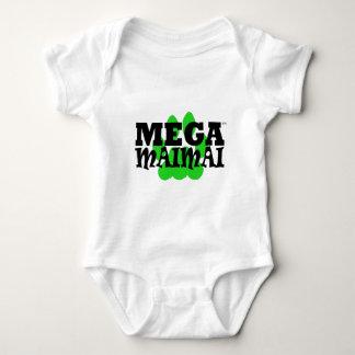 Mega Maimai Paw Print Green Tee Shirts