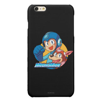 Mega Man & Rush 2 Glossy iPhone 6 Plus Case