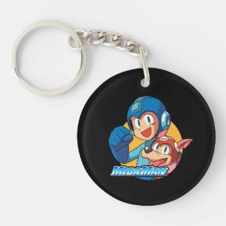 Mega Man & Rush 2 Keychain