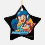 Mega Man & Rush Christmas Ornament