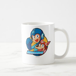 Mega Man & Rush Coffee Mug