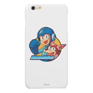 Mega Man & Rush Glossy iPhone 6 Plus Case
