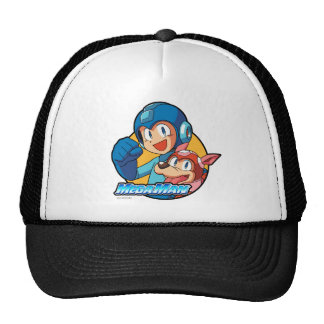 Mega Man & Rush Mesh Hats