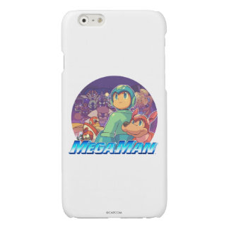 Mega Man & Rush Key Art 2 Glossy iPhone 6 Case