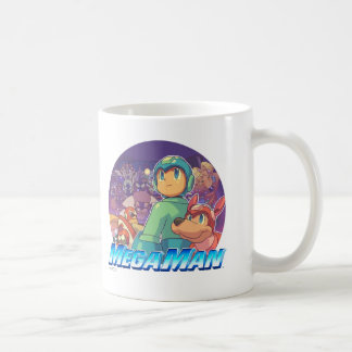 Mega Man & Rush Key Art Coffee Mug