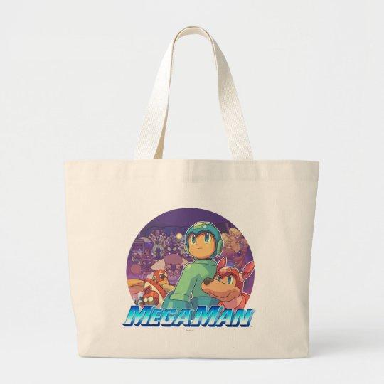 Mega Man & Rush Key Art Large Tote Bag