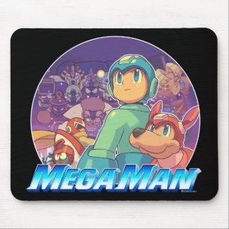 Mega Man & Rush Key Art Mouse Pad