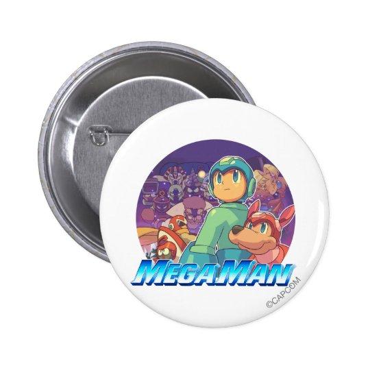 Mega Man & Rush Key Art Pinback Button