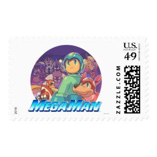 Mega Man & Rush Key Art Stamp