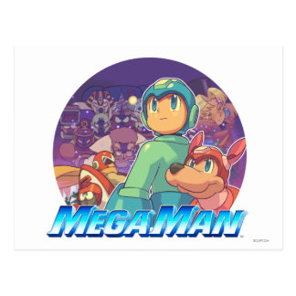 Mega Man & Rush Key Art Postcard