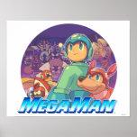 Mega Man & Rush Key Art Poster