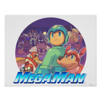 Mega Man & Rush Key Art Poster
