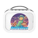 Mega Man & Rush Key Art Replacement Plate