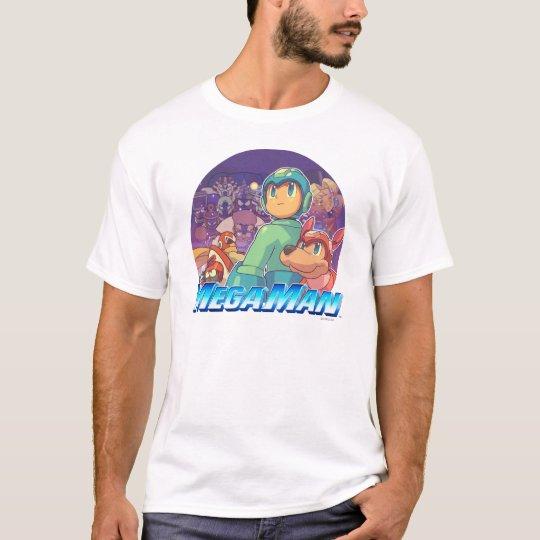 Mega Man & Rush Key Art T-Shirt