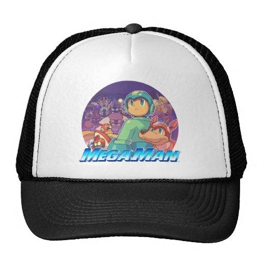 Mega Man & Rush Key Art Trucker Hat