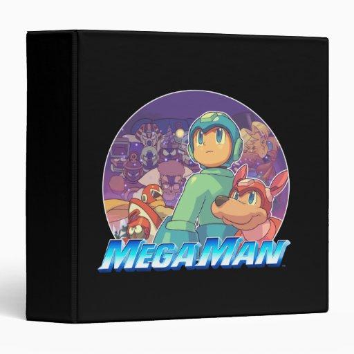 Mega Man & Rush Key Art Vinyl Binders