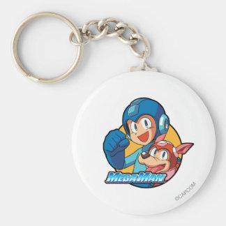 Mega Man & Rush Keychain