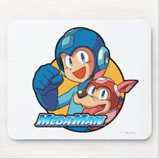 Mega Man & Rush Mouse Pad