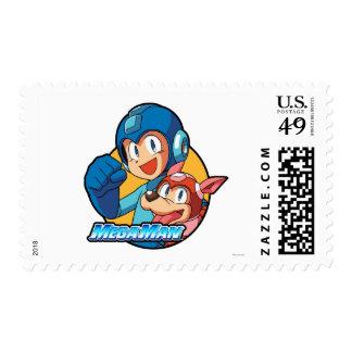 Mega Man & Rush Stamp