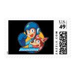Mega Man & Rush Postage Stamp