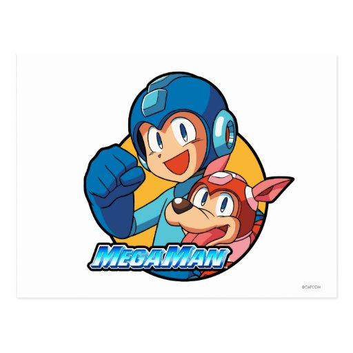 Mega Man & Rush Postcard