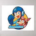 Mega Man & Rush Print