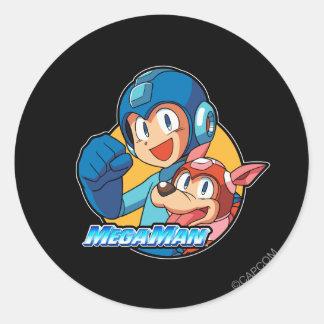 Mega Man & Rush Sticker