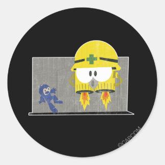 Mega Man Vs Neo-Metol Classic Round Sticker