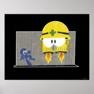Mega Man Vs Neo-Metol Poster