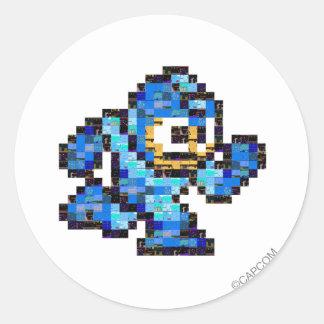 Mega Mossaic Classic Round Sticker