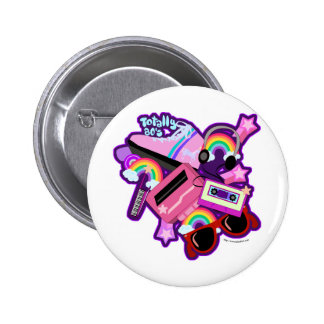 Mega Neon 80s Design Button