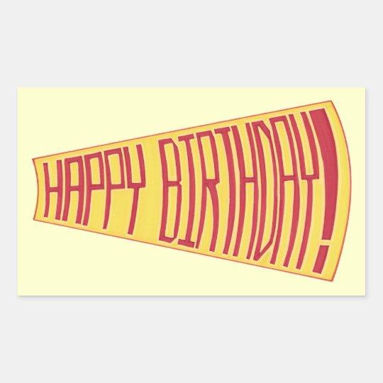 Mega Phone Happy Birthday Stickers