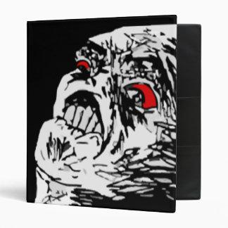 Mega rage comic face 3 ring binders