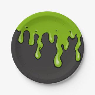 Mega Slime Drip (Customizable Slime Color) Paper Plate