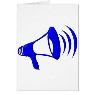 Megáfono - añada sus propias palabras tarjeta