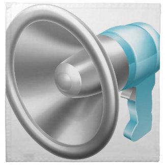 Megáfono o megáfono servilleta imprimida