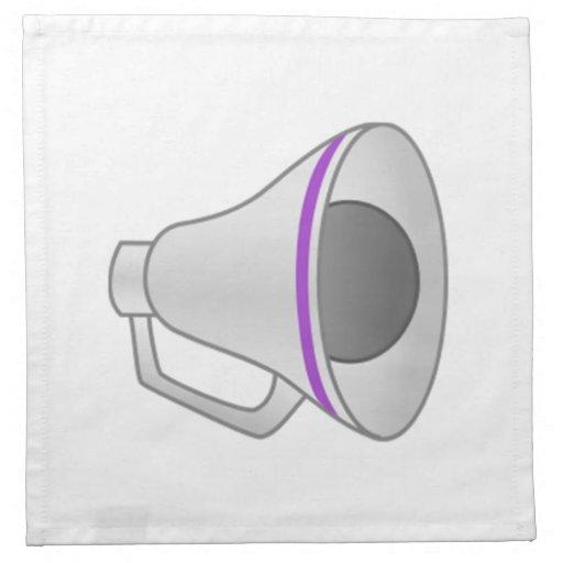 Megáfono púrpura servilleta